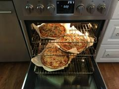 "30"" Sofia Dual Fuel pizza cooking"